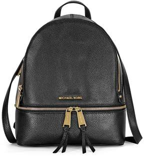Michael Kors Rhea Medium Leather Backpack - Black - ONE COLOR - STYLE