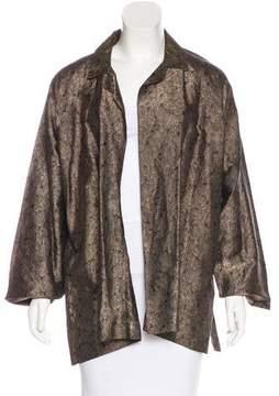 eskandar Silk-Blend Open Front Jacket w/ Tags