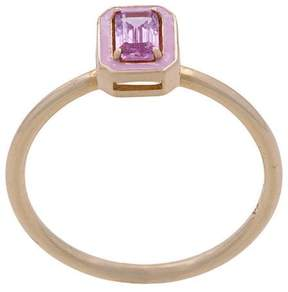 Alison Lou Dearest S pink sapphire ring