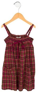Bonpoint Girls' Plaid Sleeveless Dress