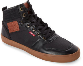 Levi's Black Wilshire Gum-Sole Mid Sneakers