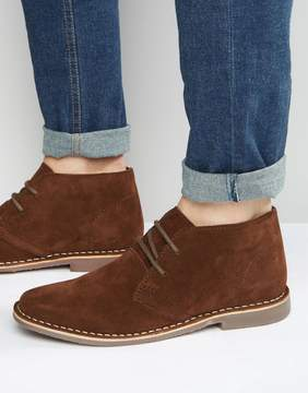 Red Tape Desert Boots Brown Suede