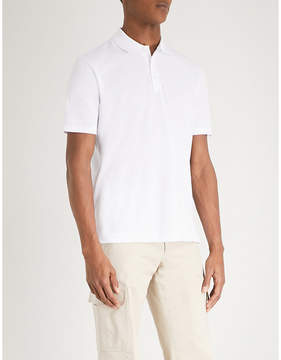 HUGO Logo-back cotton-piqué polo shirt