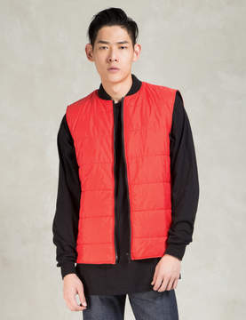 Christopher Raeburn Red Quilted Gilet