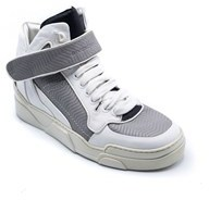 Givenchy White/grey Leather High Top Sneaker Stars.