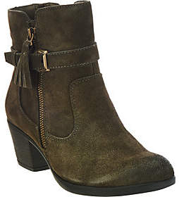 Earth Origins Suede Water Repellent Ankle Boots - Tori
