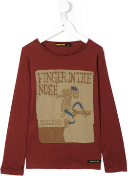 Finger In The Nose Long John Silver skater print T-shirt