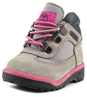 Timberland 6in Premium Toddler Round Toe Leather Gray Boot.