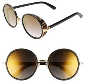 Jimmy Choo Women's Andiens 54Mm Round Sunglasses - Gold Black
