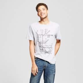Awake Men's New York Station Map T-Shirt Gray