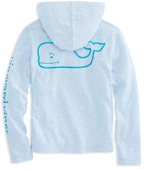 Vineyard Vines Girls' Hooded Foil-Whale Long-Sleeve Tee - Little Kid, Big Kid