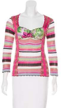 Christian Lacroix Bazar de Patterned Sequin Top