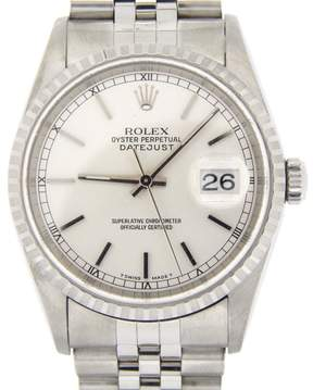 Rolex 16220 Stainless Steel Datejust w/Jubilee Band & Silver Dial Watch