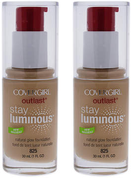 Cover Girl Buff Beige Outlast Stay Luminous Foundation - Set of Two