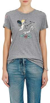Valentino Women's Tattoo-Print Cotton Jersey T-Shirt