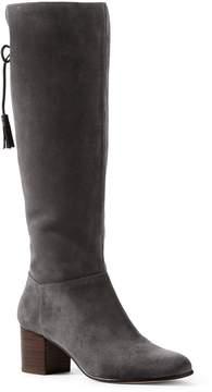 Lands' End Lands'end Women's Tall Suede Block Heel Boots