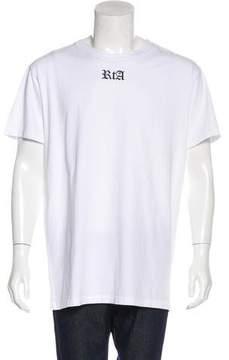 RtA Denim Distressed Graphic Print T-Shirt