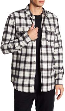 Micros Over Long Sleeve Woven Flannel Plaid Regular Fit Shirt