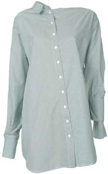CHRISTOPHER ESBER asymmetric striped shirt