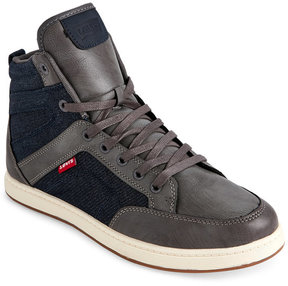 Levi's Charcoal & Navy Finn Optima Denim High Top Sneakers
