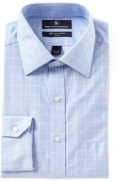 Hart Schaffner Marx Non-Iron Classic-Fit Spread Collar Windowpane Checked Dress Shirt