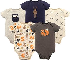 Hudson Baby Brown & Orange Fox Bodysuit Set