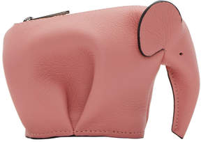Loewe Pink Small Elephant Coin Pouch