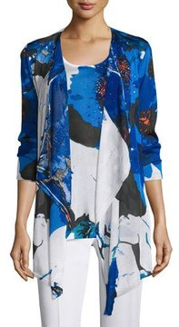 Berek Floral Lapis of Luxury Cardigan, Plus Size
