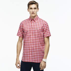 Lacoste Men's Regular Fit Checked Poplin Shirt