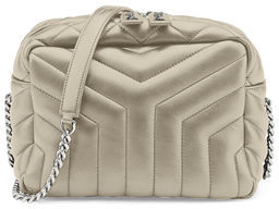 Saint Laurent Loulou Monogram Y-Quilted Small Bowling Bag - IVORY - STYLE