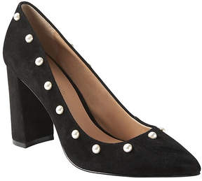 Banana Republic Pointed-Toe Block-Heel Pump with Pearls