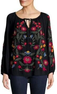 Context Embroidered Floral Top