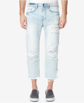 Buffalo David Bitton Men's Calf-Length Ripped Stretch Jeans