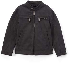 Urban Republic Black Faux Suede Moto Jacket - Boys