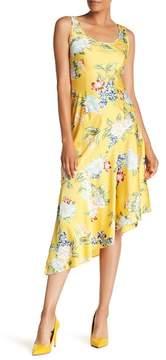Donna Morgan Sleeveless Floral Print Charmeuse Dress