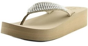 Callisto St. Barth Open Toe Synthetic Wedge Sandal.