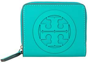 Tory Burch Charlie Mini Bi-Fold Wallet - Ribbon Turquoise - ONE COLOR - STYLE