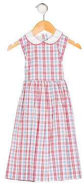 Papo d'Anjo Girls' Sleeveless Plaid Dress