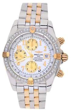 Breitling B13356 Windrider Chronomat Evolution Stainless Steel & 18K Rose Gold 43.5mm Mens Watch