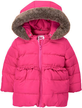 Gymboree Pink Faux Fur-Trim Fleece-Lined Hooded Jacket - Infant, Toddler & Girls