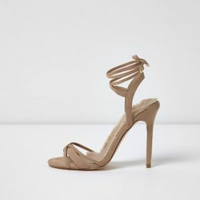River Island Womens Sand tie up barely there sandals