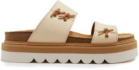 See by Chloe Knot-detail leather flatform slides