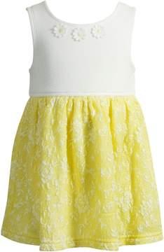 Youngland Baby Girl Floral Jacquard Dress