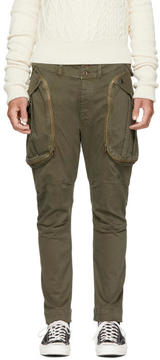 Faith Connexion Green Classic Cargo Trousers