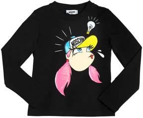 Moschino Girl Printed Cotton Jersey T-Shirt