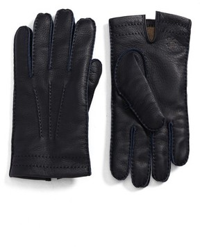 Hickey Freeman Men's Deerskin Leather Gloves
