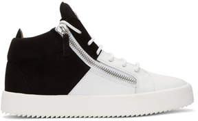 Giuseppe Zanotti Black and White May London High-Top Sneakers