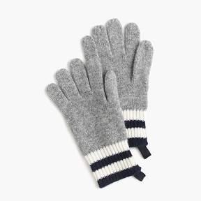J.Crew Kids' striped cashmere gloves