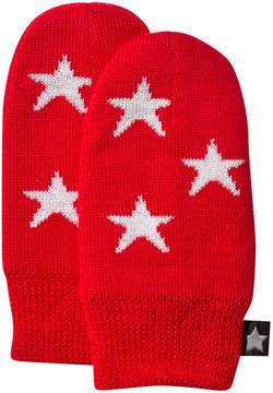 Molo True Red Snowflake Mittens