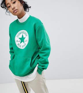 Converse Chuck Patch Graphic Sweatshirt In Green